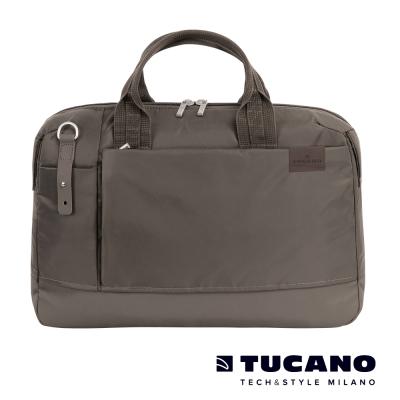 TUCANO-AGIO-15吋雅痞自在商務側背包-棕灰