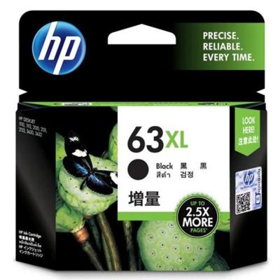 HP F6U64AA (63XL) 黑色高容量原廠墨水匣