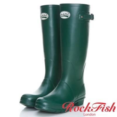 ROCKFISH 質感霧面長筒雨靴 酷色系列 棕櫚綠