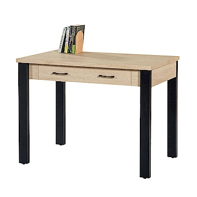 Boden-奧爵3.5尺二抽書桌/工作桌(兩色可選)-106x60x75cm