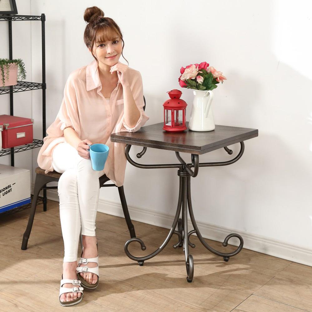 BuyJM  LOTF工業風鐵腳造型茶几桌/邊桌51x51x67cm-DIY
