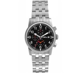 AstroAvia 空戰英雄計時鬧鈴碼錶-黑/42mm