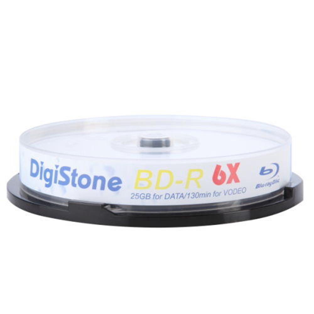 DigiStone 國際版 A+ 藍光 6X  BD-R 25GB 桶裝 (10片)
