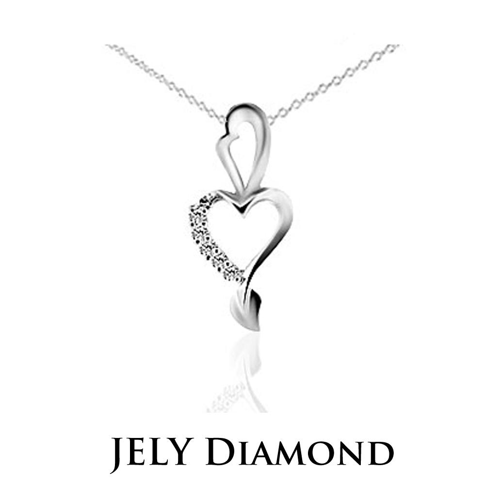 JELY HEART HEART 約10分天然真鑽項鍊