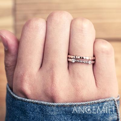 Angemiel安婕米 925純銀戒指組合 樂觀追夢