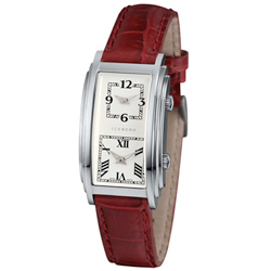 ICEBERG 羅馬假期GMT雙時區系列腕錶-白x桃紅錶帶/24x28mm