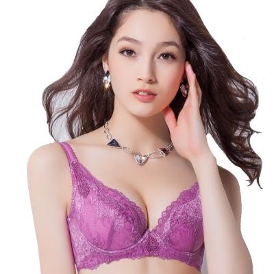 思薇爾 撩波系列C-F罩薄襯內衣(櫻草紫)