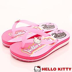 HelloKitty童鞋 餅乾造型夾腳拖鞋款 EI18155粉(中大童段)