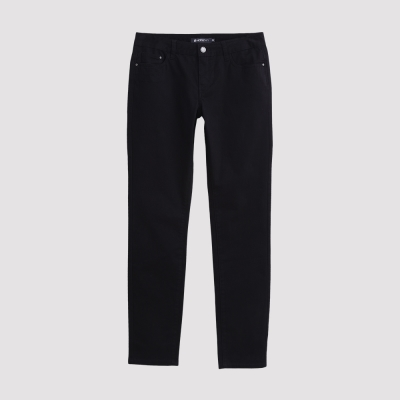 Hang Ten - 女裝 - 彈性修身美型直筒褲 - 黑