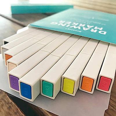 KOKUYO Drawing 方形馬克蠟筆-10色入(常用色)