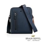 BRAUN BUFFEL - RUFINO-C洛非諾III系列紳士斜背包 - 午夜藍