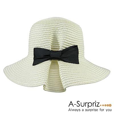 A-Surpriz 純色皺摺蝴蝶結遮陽帽(3色選)