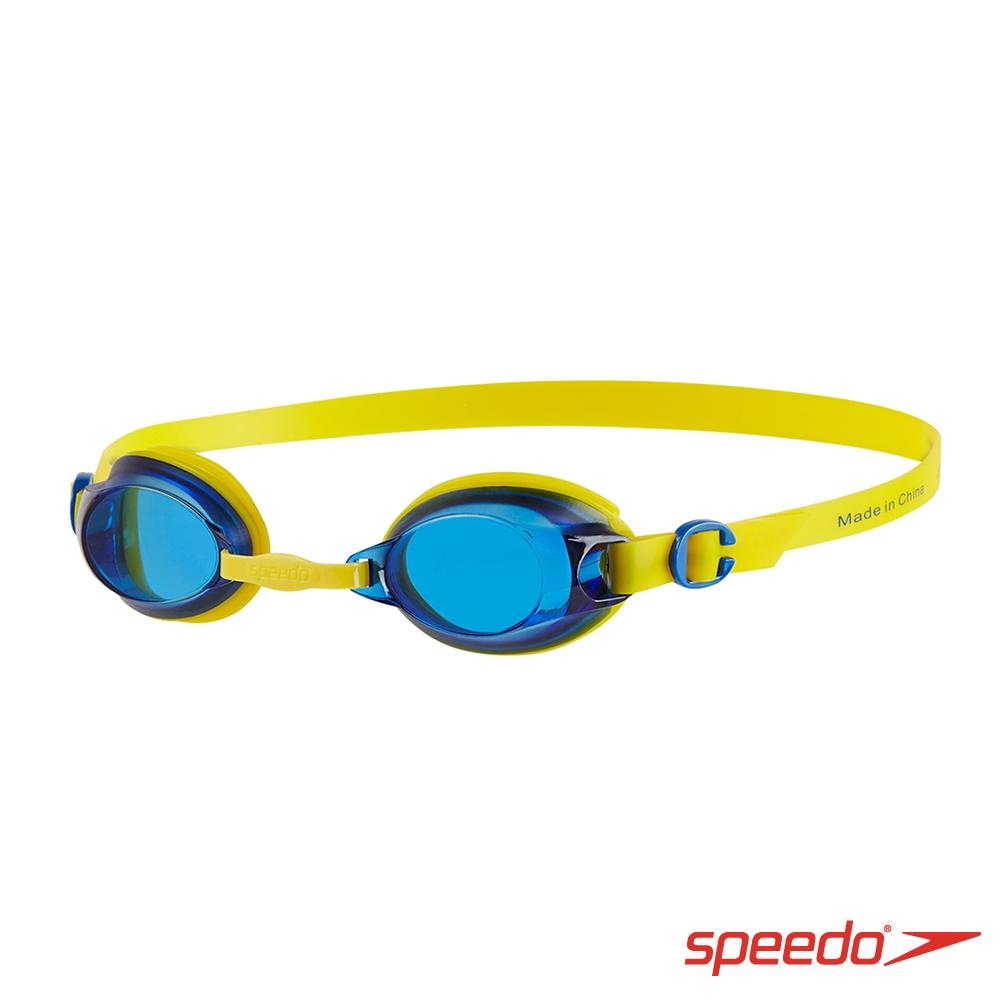 SPEEDO 兒童 基礎泳鏡 Jet 黃/藍