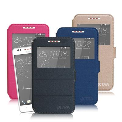VXTRA HTC Desire 825 D825u經典金莎紋 商務視窗皮套