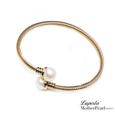 大東山珠寶 南洋貝寶珠金屬造型金手鍊 腕際風尚