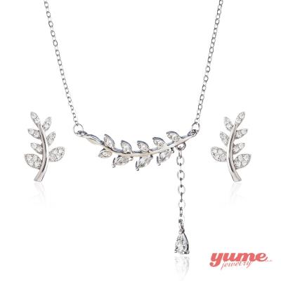 YUME 桂冠之葉套組(項鍊+耳環)