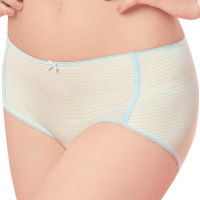 思薇爾 惹萌漾萌學趣系列M-XL印花中低腰平口內褲(潔淨藍)