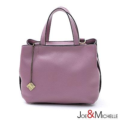 J&M 真皮葛蕾絲極簡空氣包 浪漫紫