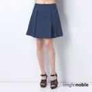 獨身貴族 A-Line細條紋寬褶短裙(2色)