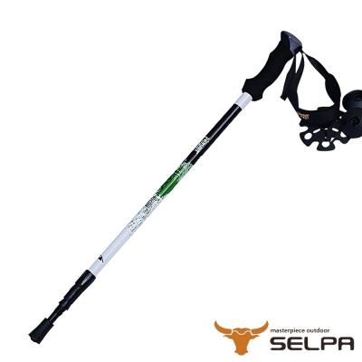 韓國SELPA 開拓者三節式超輕碳纖維握把式登山杖 綠色