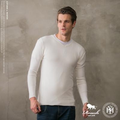 ROUSH (Slim Fit) 基本款V領針織衫 (5色)