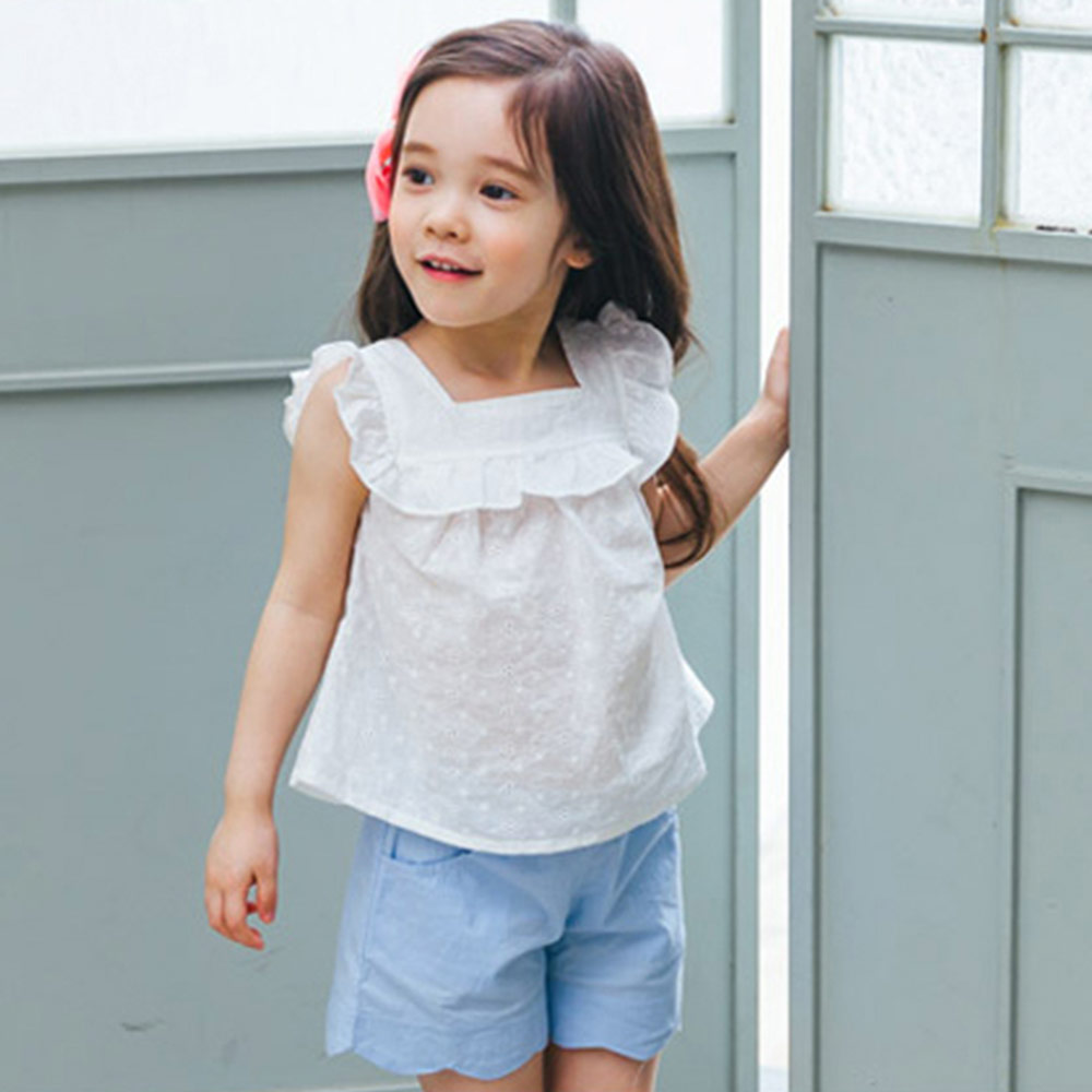 BEBEZOO 韓國 兩色波浪休閒短褲