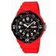 CASIO 潛水風DIVER LOOK指針錶(MRW-200HC-4B)-黑x紅/45mm product thumbnail 1