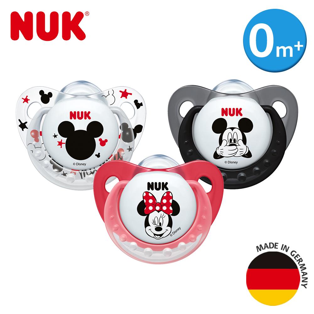NUK米奇安睡型矽膠安撫奶嘴-初生型0m+1入(顏色隨機出貨))
