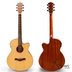 Amari 40吋 面單雲杉側背胡桃 EQ附調音 民謠吉他(4088WCE)+豪華五配件