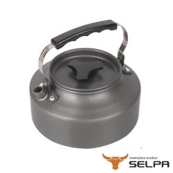 韓國SELPA 1.1L鋁合金茶壺熱水壺泡茶壺 黑色