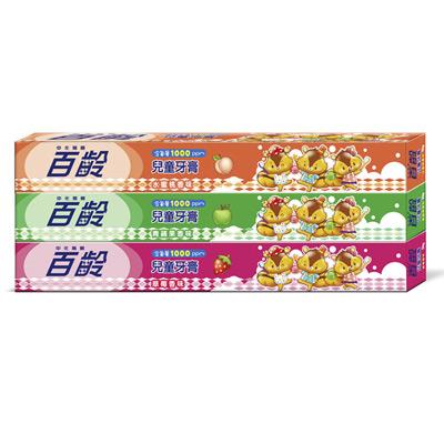 百齡Smiling Pukii兒童牙膏-草莓+青蘋果+水蜜桃(50g*3入組)
