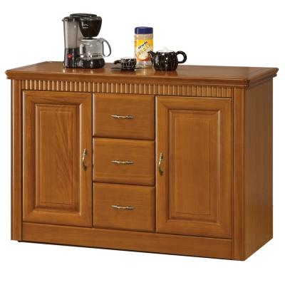 愛比家具 肯尼思4尺楠檜餐櫃