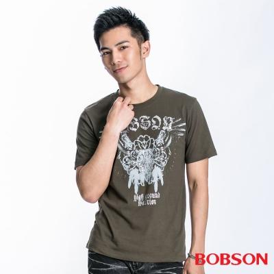 BOBSON 男款展翅印圖短袖上衣