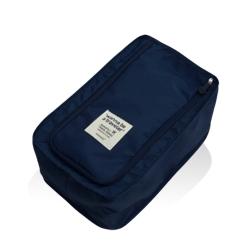 旅行首選 防水鞋盒 鞋子收納袋(深藍色)