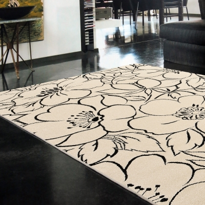 Ambience-比利時infinity 現代地毯 -朵麗(黑)(160x230cm)