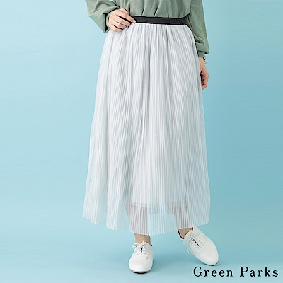 Green Parks 飄逸感百摺長裙