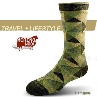 【DARN TOUGH 】VERMONT 美麗諾羊毛三角紋襪(2入)_淺綠