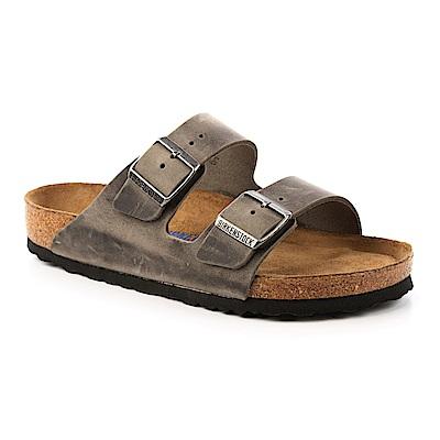 勃肯BIRKENSTOCK 552801。ARIZONA經典二條拖鞋(鐵灰)