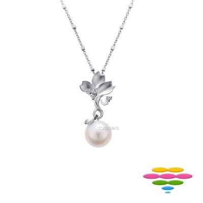 彩糖鑽工坊 淡水珍珠&鑽石 櫻花項鍊 櫻花系列