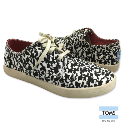 TOMS 迷彩休閒鞋-女款(黑白)