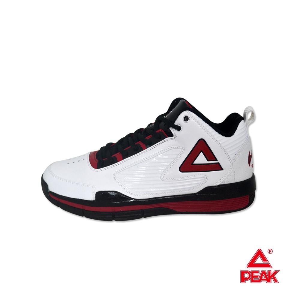PEAK匹克。NBA系列緩震防滑耐磨籃球鞋-白/黑