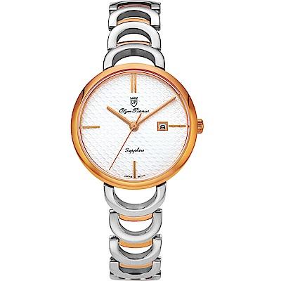 Olym Pianus 奧柏表 靜謐時光石英腕錶-雙色 2490LSR
