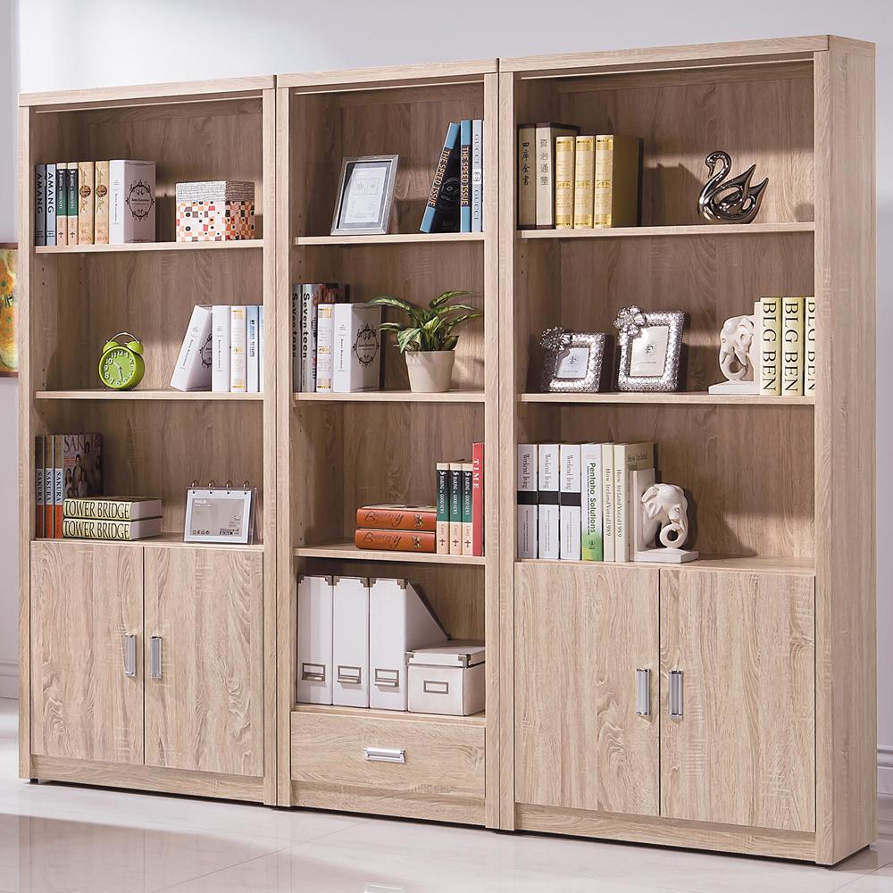 時尚屋 辛迪佳橡木色7.2尺書櫃組 寬218x深33x高182cm