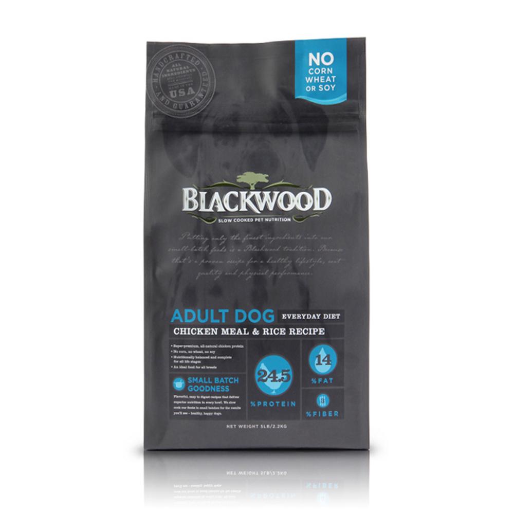BlackWood 柏萊富 特調成犬活力配方(雞肉+糙米)30磅 13.6kg