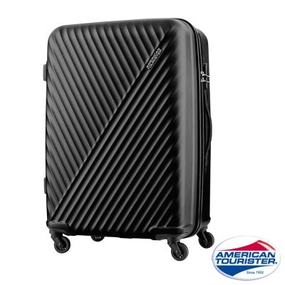AT美國旅行者 28吋Visby線條防刮硬殼TSA行李箱(黑)