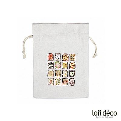 [絕版暢貨] Loft Deco | Toast | 棉質萬用束口袋