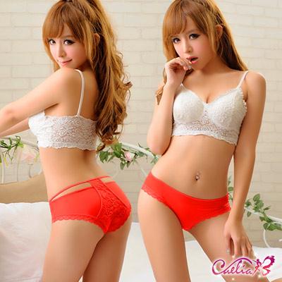內褲 自然造型美臀內褲(紅)  Caelia