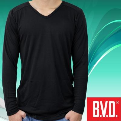 BVD 光動能迅熱V領長袖衫-台灣製造(4入組)