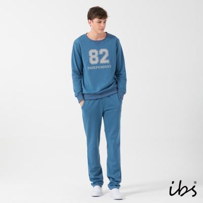 ibs美式休閒套裝-藍灰-男