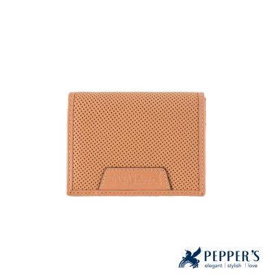 PEPPER-S-真皮胡椒名片夾-卡其